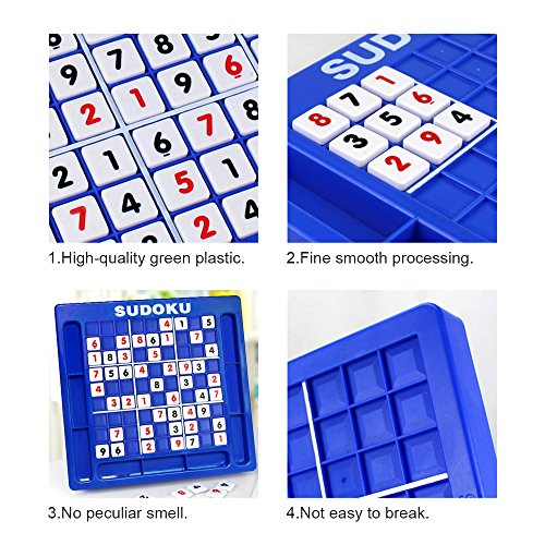JUNSHEN Plastic Sudoku Puzzle Board Games Classical Puzzle Toys Brain Digital Puzzle Toys for Kids and Adults by JUNSHEN (Image #5)