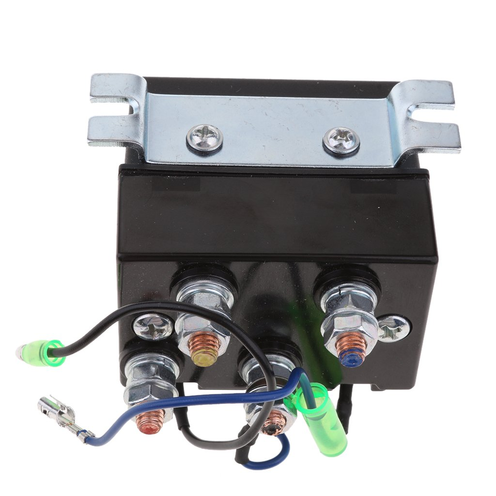 Gazechimp Interruptor de Rel/é de Solenoide Inversor de Torno de 12 V CC para Servicio Pesado ATV 200A