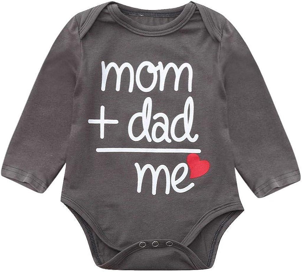 Bambina Neonato Pagliaccetti Lettera Stampa Manica Lunga Tutina Body Inverno Bambino Abbigliamento 0-24 Mesi Jimmackey