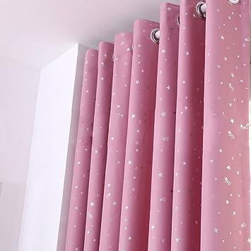 Fesselnd Thermo Vorhang, Mit Ösen Blackout Fenster Hinmay Stars Öse Vorhänge Für  Wohnzimmer Für Wohnzimmer