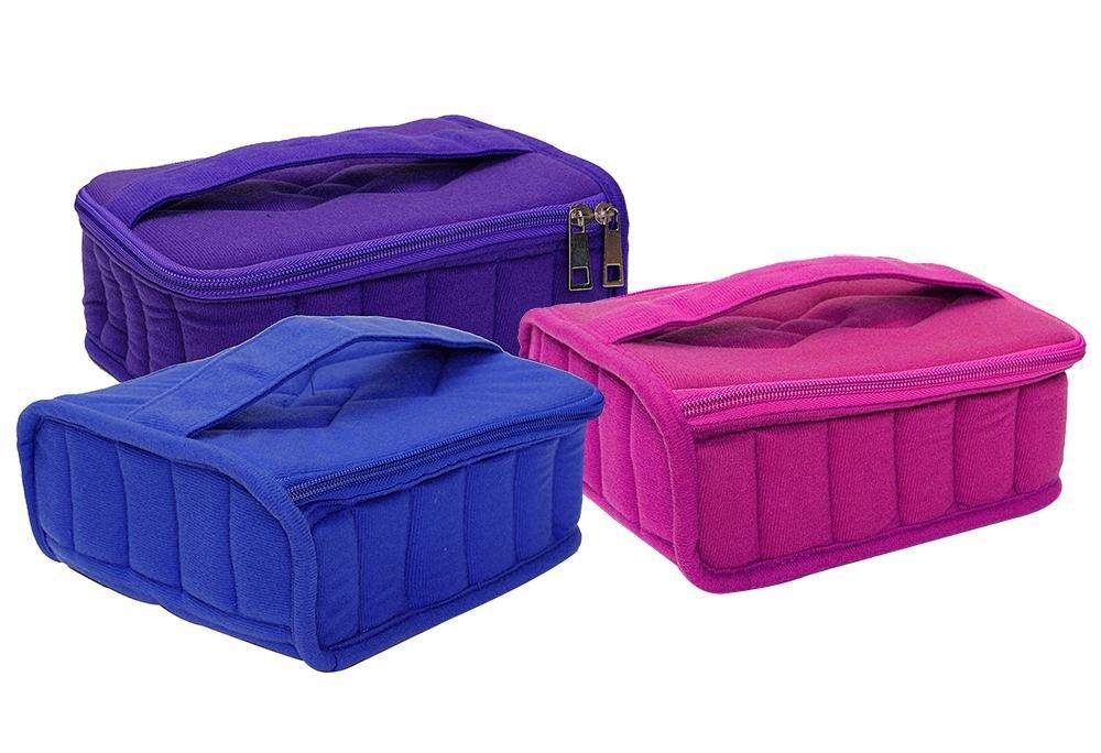 Aolvo Essential Oil Carrying Case Holder Bags for 30 Bottles for 15ML, 10ML, 5ML and Roll-Ons Bottles, Zipper