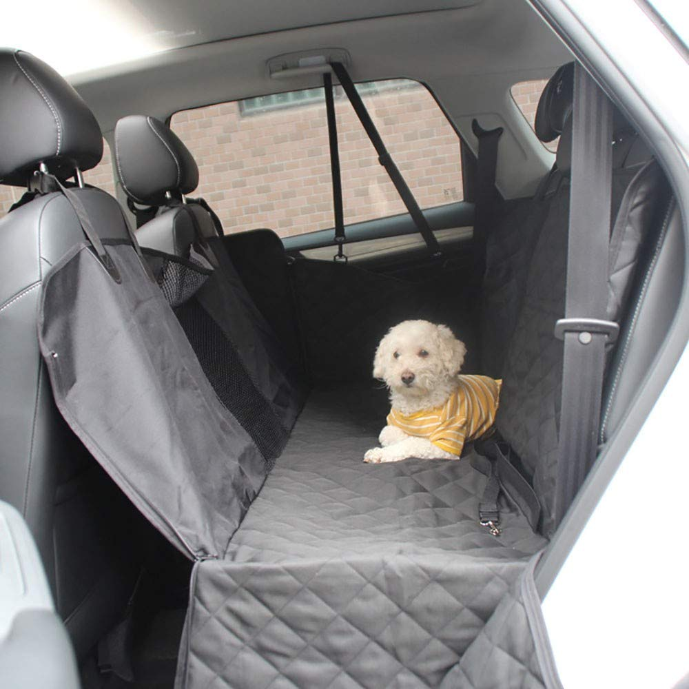 Dog Car Seat Covers,600D Oxford Cloth Flank with Zipper Abrasion Resistance Waterproof Scratch Proof Nonslip Back Seat Cover for Cars and Small and Medium SUVs 137  147cm