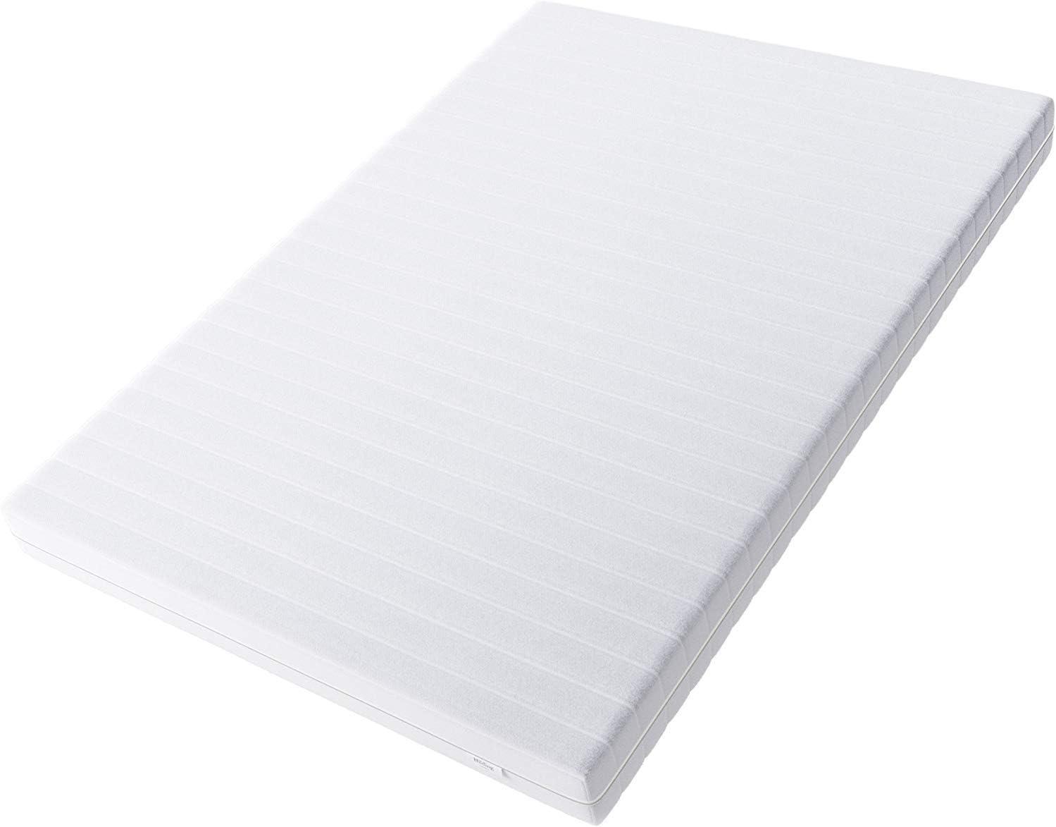Hilding Sweden Essentials Colchón de espuma blanca / colchón ortopédico mediano de 7 zonas para todo tipo de sueño (H2-H3) Clásico / 200 x 90 x 16 cm