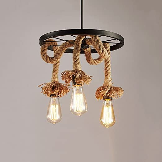 Retro Cage HEJU Wire American Country Industrial Chandelier F31TlKJc
