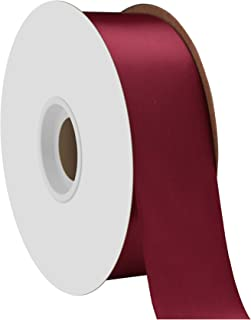 """product image for Offray Berwick 1.5"""" Single Face Satin Ribbon, Wine Red, 50 Yds"""