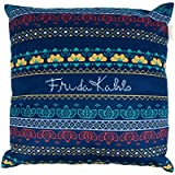 Capa de Almofada Poliéster Frida Kahlo Pixel Urban Azul