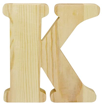 Amazon.com: 8 inch Chunky Unfinished Wood Letter K