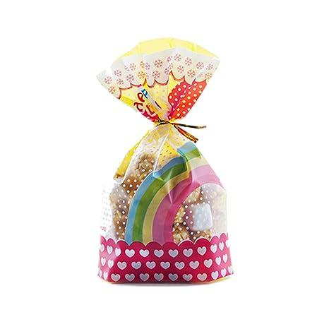 Amazon.com: 50 bolsas de caramelos para caramelos, bolsas de ...