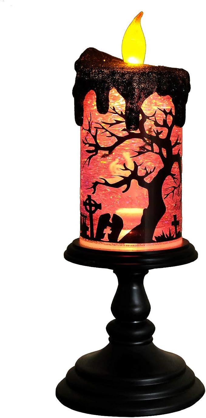 Eldnacele Halloween Navidad LED Iluminación Tornado Spinning ...