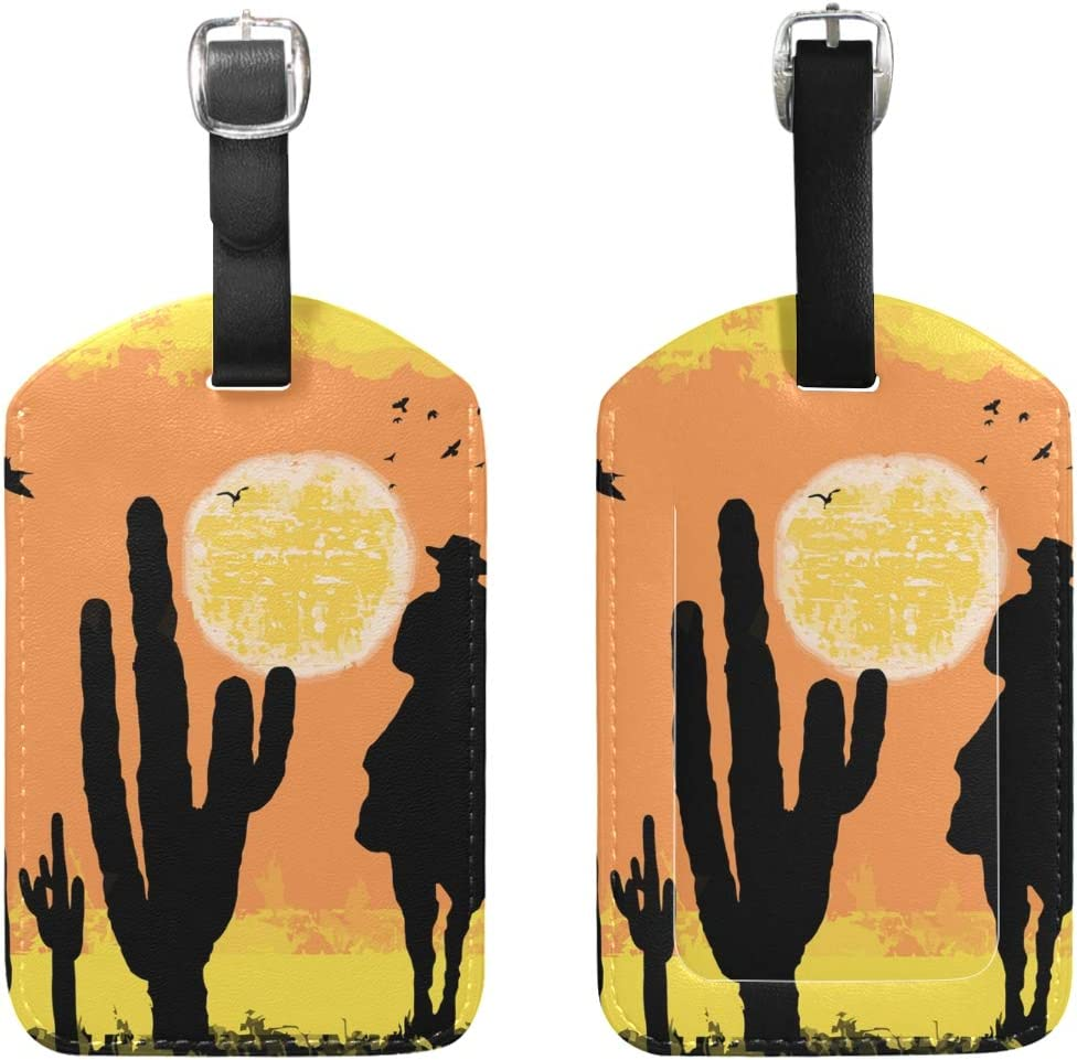 2 Pack Luggage Tags Desert Handbag Tag For Travel Bag Suitcase Accessories