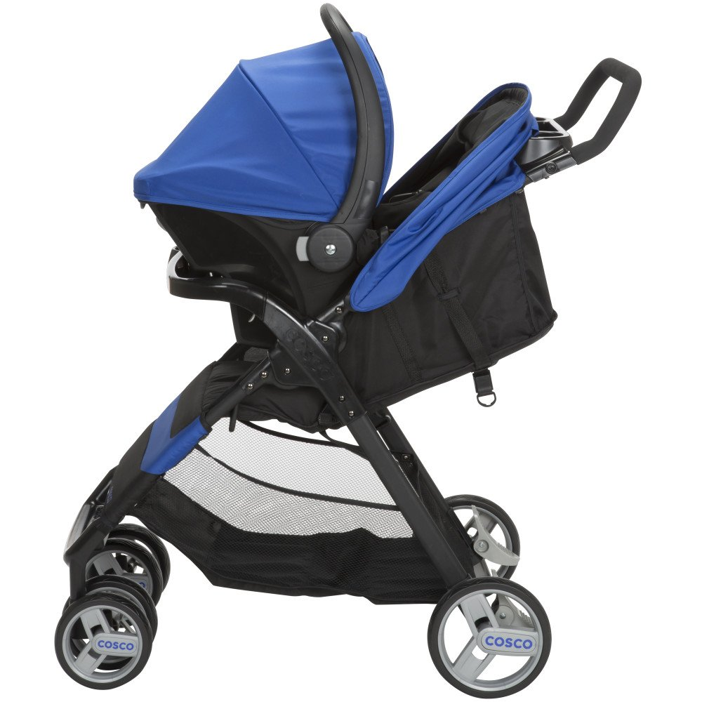 Cosco Simple Fold Travel System With Light N Comfy Infant Car Seat Bright Lime Dorel