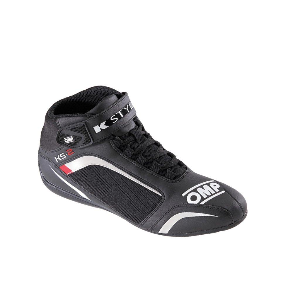 OMP ompic/81212044 KS-2 Scarpe, colore: bianco/nero/rosso, taglia 44