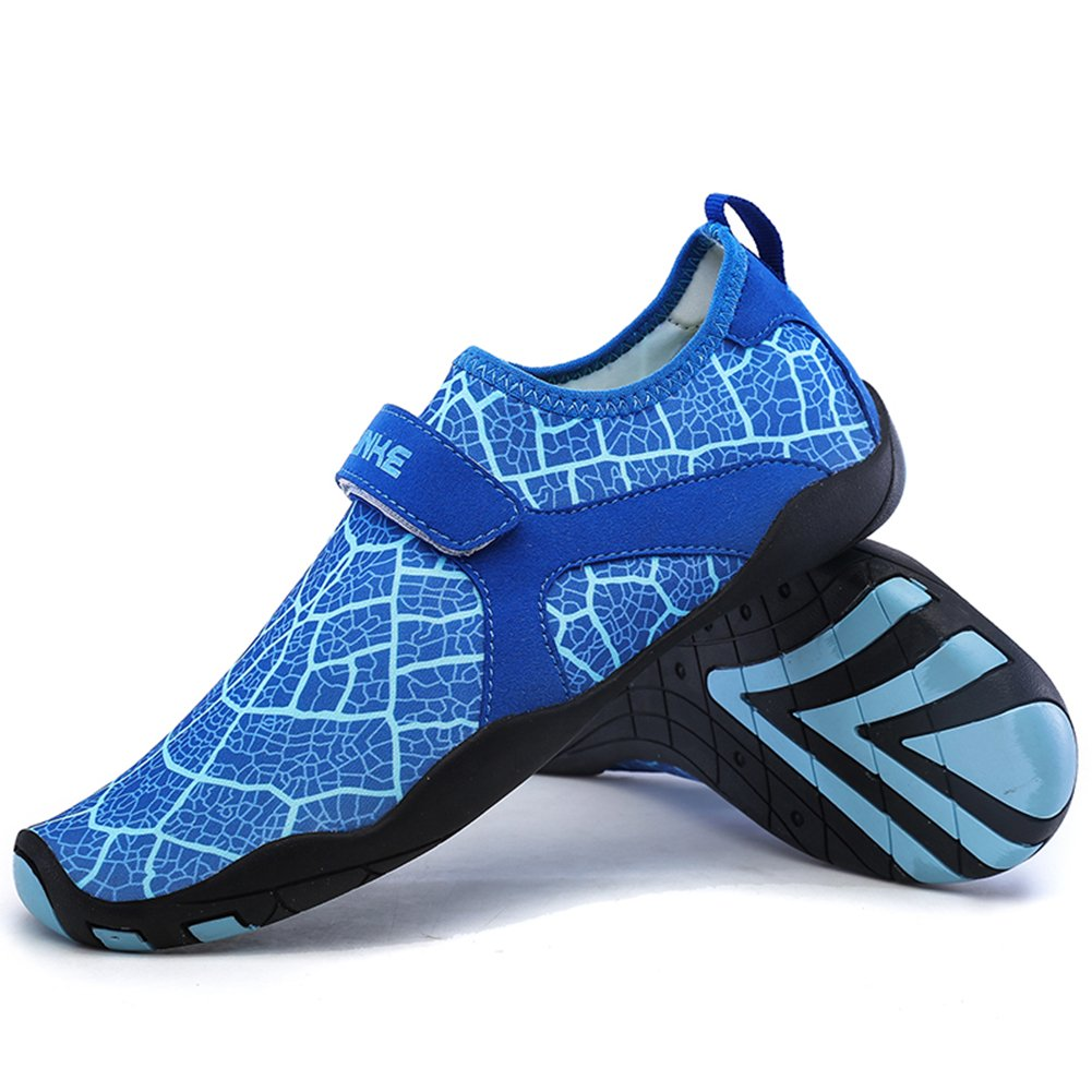 L-RUN Womens Breathable Mesh Outdoor Soft-Soled Water Skin Shoes Blue XXL(W:12-13,M:10-11)=EU 43-44