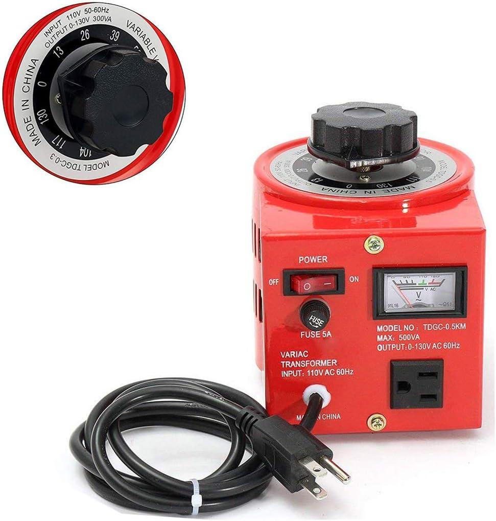 Beleeb Voltage Transformer 5 Amp Auto AC Variable Voltage Regulator,500VAC Max,120VAC Input, 0-120V/130VAC Output