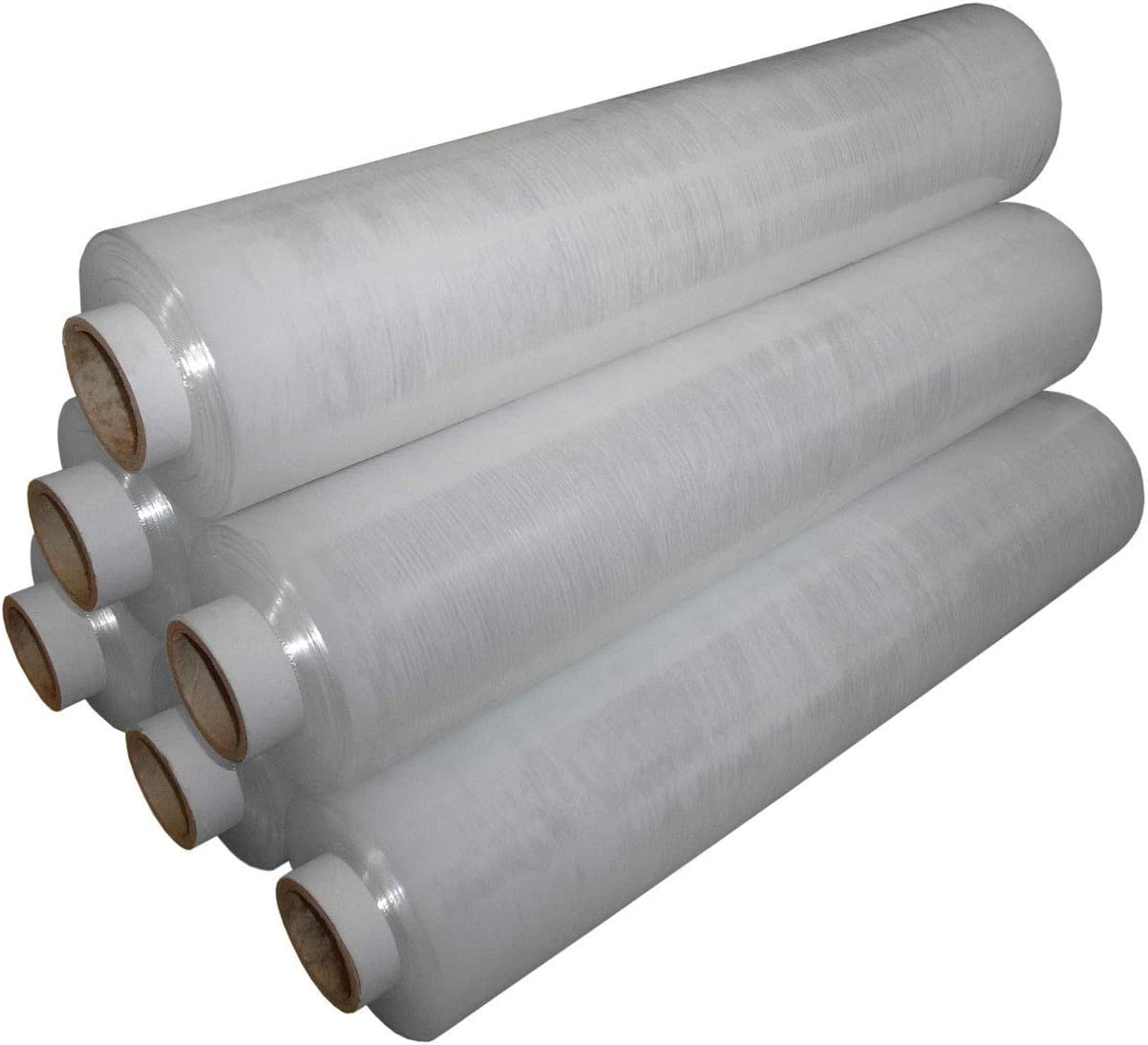 6 Rolls Clear Pallet Stretch  Shrink Wrap Film Non-Extended 400 mm x 250 m 20 mu