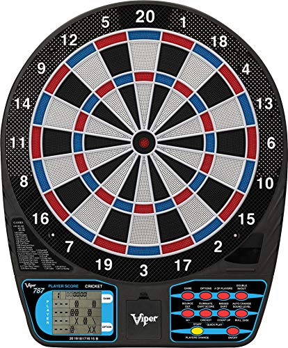 Viper 787 Electronic Dartboard, Ultra Thin Spider For Increased Scoring Area, Free Floating Segments, Locking Segment Holes For Fewer Bounceouts, Automatic Scoring