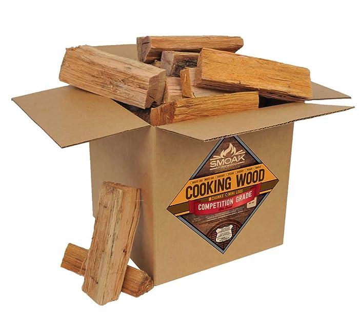 Smoak Firewood Cooking Wood Logs - USDA Certified Kiln Dried (Red Oak, 25-30 lbs)
