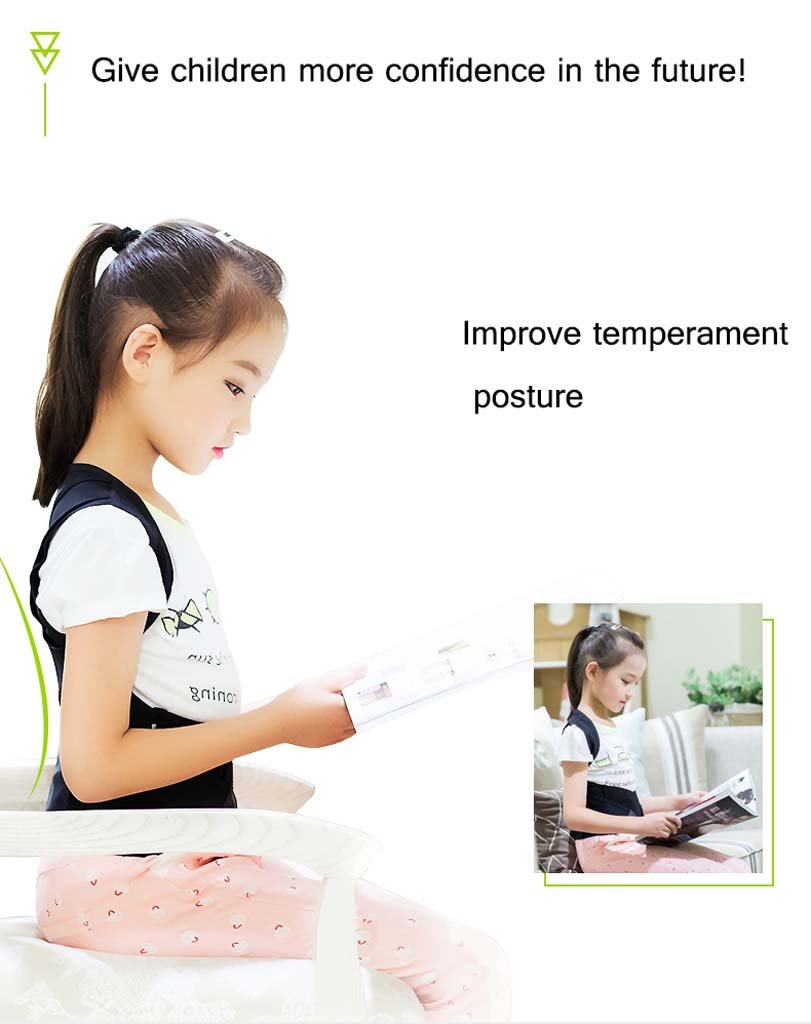 GAIHU Posture Corrector Back Shoulder Waist Support Breathable Waistband For Child Student Posture Correction,XL by GAIHU (Image #5)