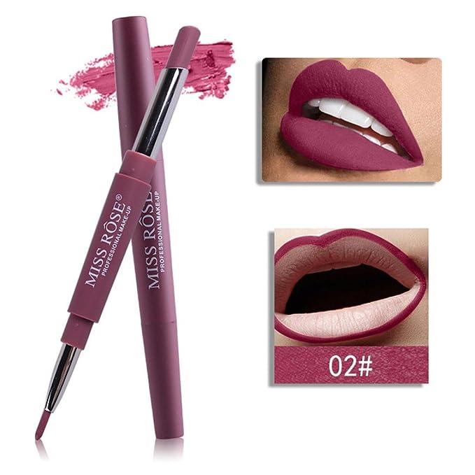 Beauty Essentials Lipstick 2019 New Style Brand Makeup Waterproof Lipstick With Lip Pencil Long Lasting Easyto Wear Makeup Lips Matte Lipstick Liquid Lipstick Batoom Baby