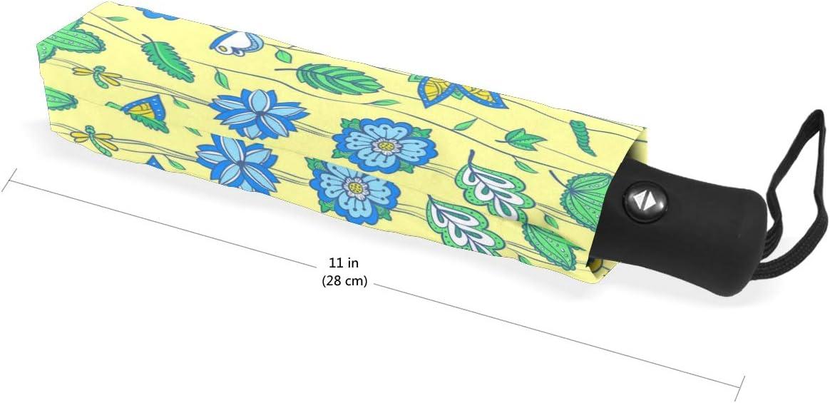 Floral Christmas Wrapping Paper fashion print cute Windproof automatic tri-fold umbrella sun UV protection Sun umbrella