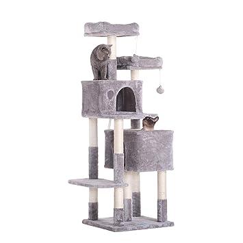 Amazon.com: Hey-bro - Árbol para gatos con postes rascadores ...