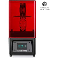 """ELEGOO MARS UV Photocuring LCD 3D Printer with 3.5"""" Smart Touch Color Screen Off-line Print 4.72""""(L) x 2.68""""(W) x 6.1""""(H) Printing Size-Black"""