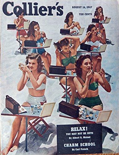 Carl French, Print art. Color Illustration (charm school)Orginal 1947 Collier's Magazine Cover Art