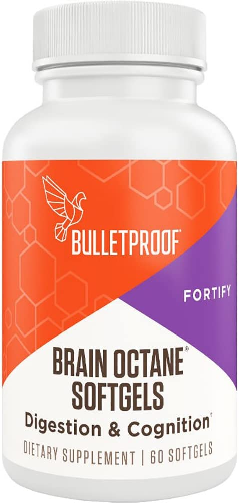 Bulletproof Brain Octane Softgels, Supports Cognitive Function and Gut Health (60 Softgels)