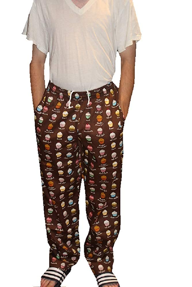 Sand Storm Baggy Chef Pants 100% Cotton XS-6X Vintage, Cupcakes Pockets