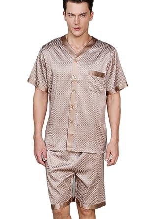 CLC Men s Pure Mulberry Silk Pajama Set Sleep Sets at Amazon Men s Clothing  store  b3028fd29