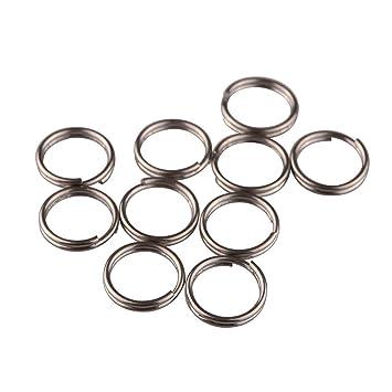 Amazon.com: tiking 10pcs/lots titanio pequeño anillos de ...