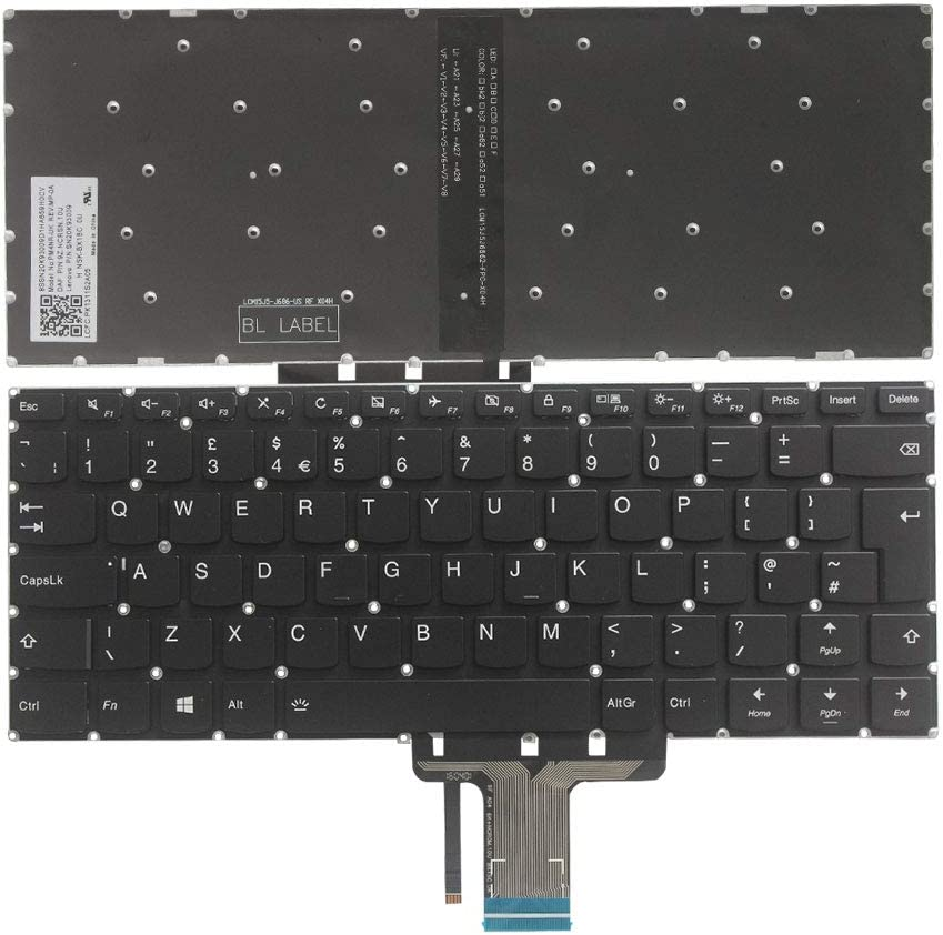 New Laptop Replacement Keyboard Fit Lenovo Yoga 710-14IKB 710-14ISK 710-15IKB 710-15ISK UK Layout