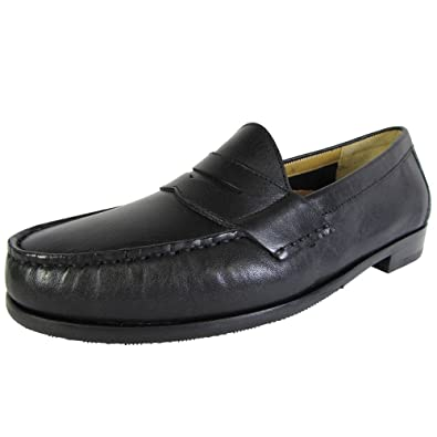 Cole Haan Mens Ascot Penny II Leather Penny Loafer Shoe Black US 7.5