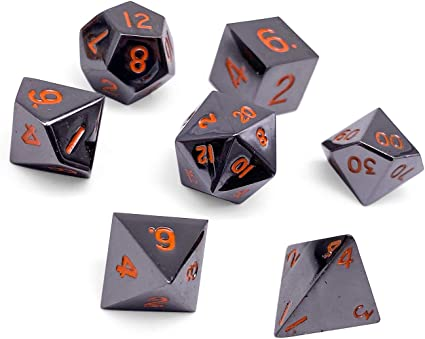 Amazon Com Set Of 7 Black Lava Full Metal Polyhedral Dice By Norse Foundry Rpg Math Games Dnd Pathfinder Toys Games The norse foundry polyhedral dice set is made of premium aluminum, which will guarantee its durability. set of 7 black lava full metal polyhedral dice by norse foundry rpg math games dnd pathfinder
