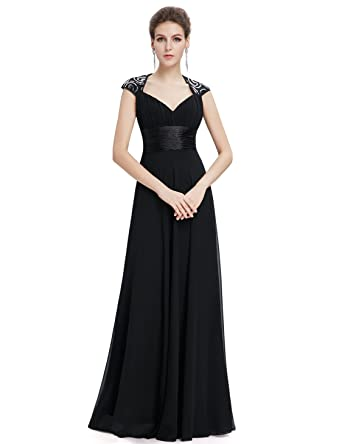 f5b367a2aa2e8 Ever-Pretty Chiffon Sexy V-Neck Ruched Empire Line Evening Dress 09672