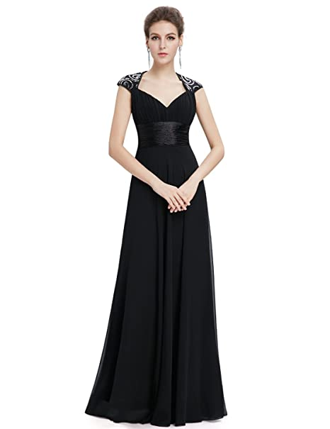 c325a50db6 Ever-Pretty Chiffon Sexy V-neck Ruched Empire Line Evening Dress 09672 at  Amazon Women s Clothing store