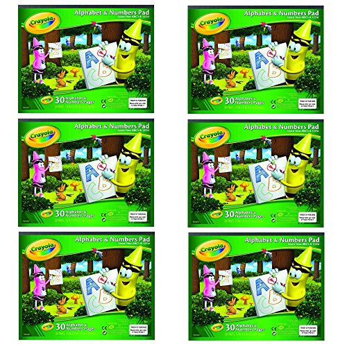 Crayola Alphabet and Number Pad ABC/123 Tablet, 6 Pack