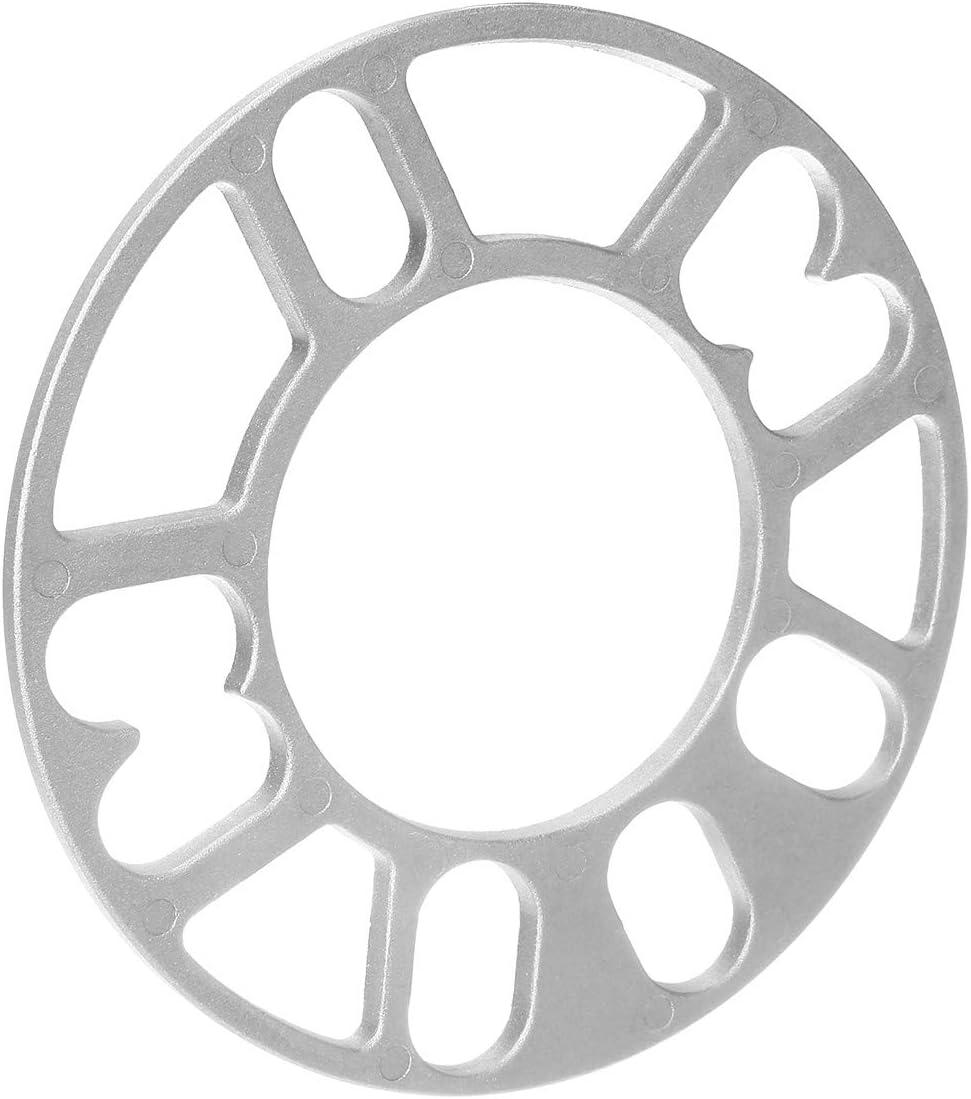 NO LOGO SHIYM-CHE Universal 4pcs 3 Mm 5 Mm Llanta De Aleaci/ón Separadores Adaptador Cu/ñas 4//5 Placa De Plata del Perno Prisionero De 4x100 4x108 5x100 5x108 5x112 4x114.3 5x114.3