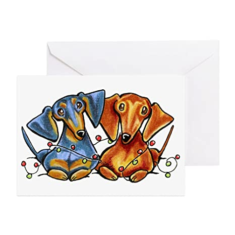Amazon cafepress dachshund christmas greeting cards cafepress dachshund christmas greeting cards greeting card 20 pack note m4hsunfo