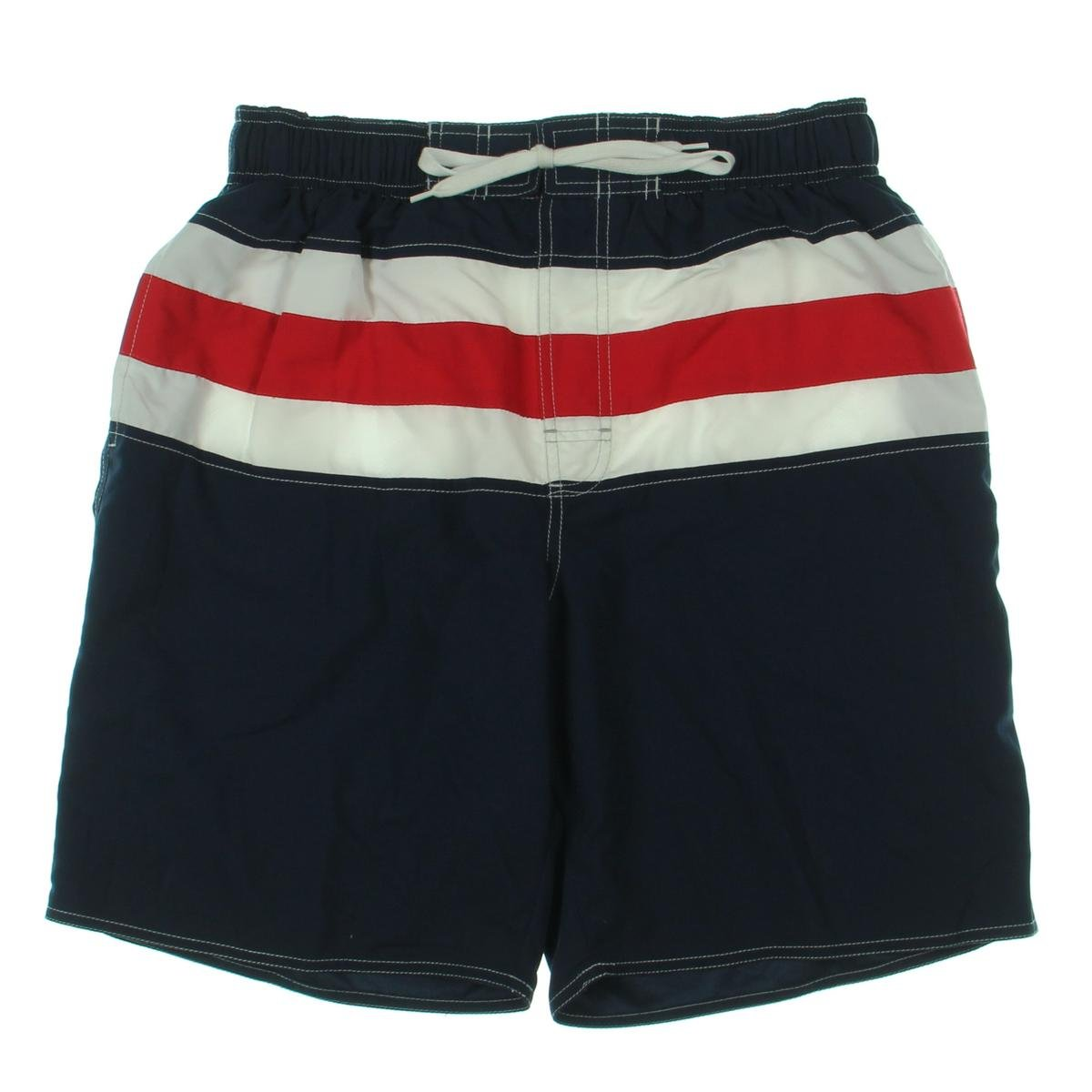 NEW NEWPORT BLUE RED WHITE BLUE USA STRIPED BOARD SHORT SWIMMING TRUNKS M6S0302