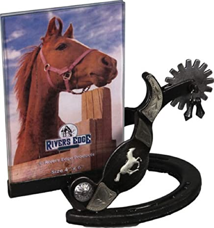 Rivers Edge Home Decor Deluxe Boot Spur Design Picture Frame