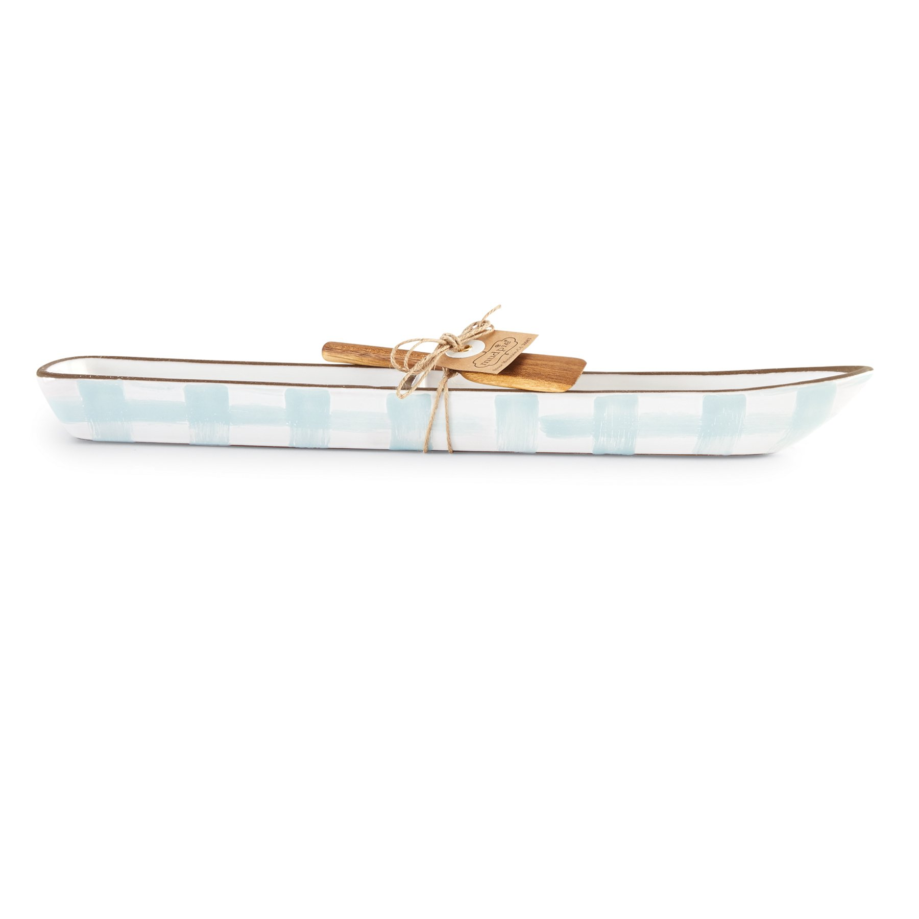 Mud Pie Canoe Shaped Section Cracker Dish Set, Blue by Mud Pie (Image #2)