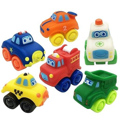 PriMI® - Juguete de goma para bebé, modelo de coche, para niños pequeños