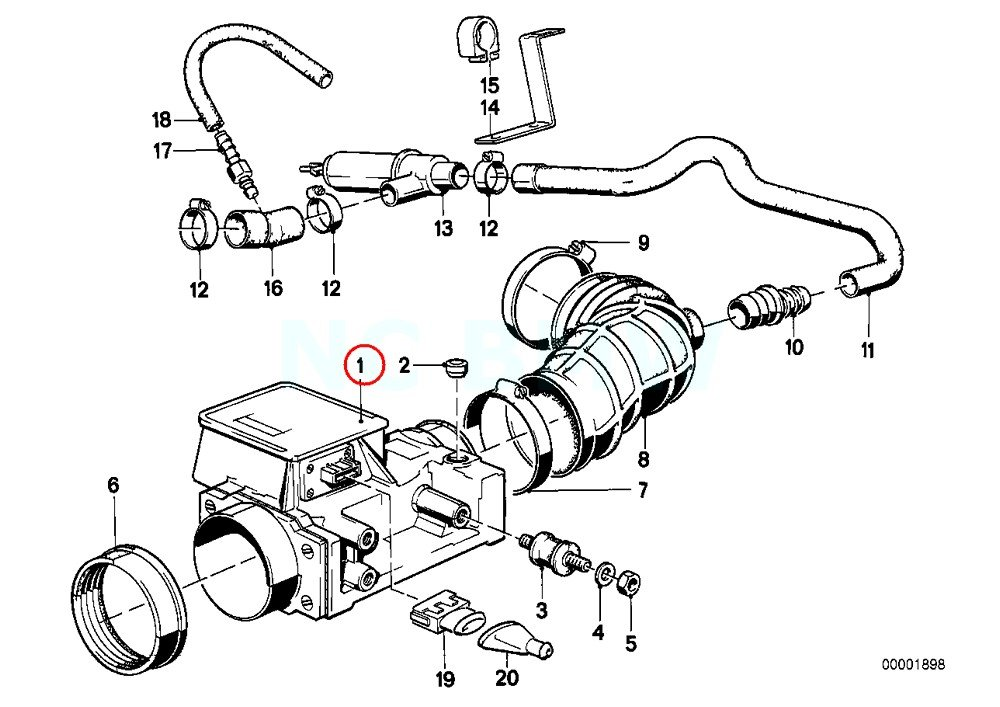 Bmw 13 62 1 466 355 Mass Air Flow Sensor Amazon Co Uk Car Motorbike