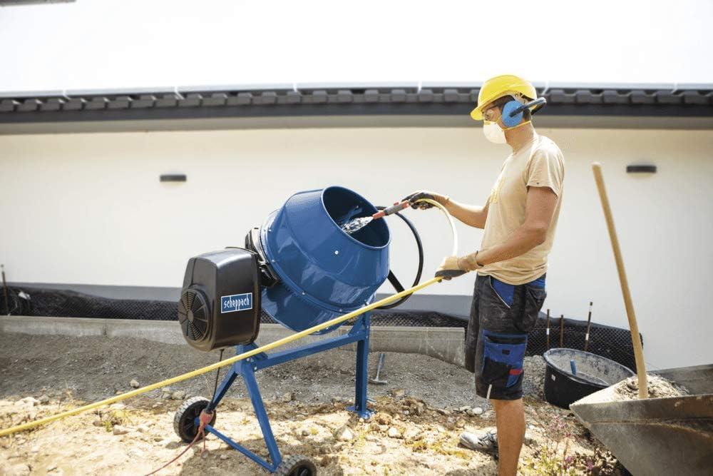 SCHEPPACH Betonmischmaschine Mix 160 Betonmischer 160L Fassungsverm/ögen, M/örtelmischer 650W, Zementmischer und SCHEPPACH Betonmischer Mix 160 M/örtelmischer + Siebtrommel Kompostsieb