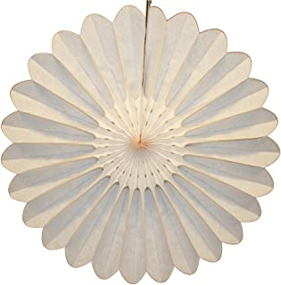 product image for 6-Pack 18 Inch Tissue Paper Fanburst Decoration (Vintage Ivory -French Vanilla)