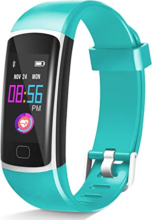 Fitness Tracker【2020 Version】, Waterproof Activity Tracker with Heart Rate Monitor and Sleep Monitor, Step Counter,Calorie Counter,Fitness Watch for Women Men Kids