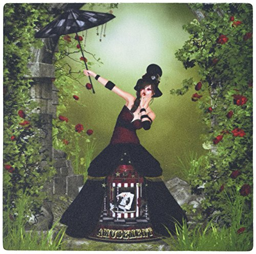 3dRose LLC 8 X 8 X 0.25 Inches Mouse Pad a Gothic Steampunk Artist in a Horse Carousel Costume (Mp_181690_1)