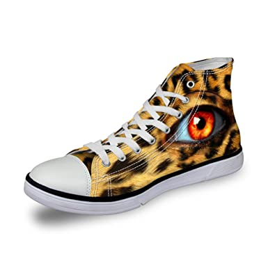 fb1eec7511b5 FOR U DESIGNS Sexy Leopard Women Shoes Flat 3D Pupil Eyes Ladies Walking  Sneaker Size 35
