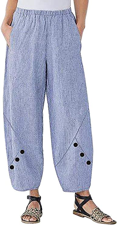 Risthy Pantalones De Playa Mujer Anchos Palazzo De Pierna Ancha Casual Baggy Pantalones Harem Pantalones Fluidos Mujeres Ocasionales Verano Pantalones Vacaciones Amazon Es Ropa Y Accesorios